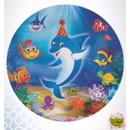 Themez Only Underwater Paper 7 Plate 10 Piece Pack