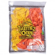 Themez Only Chhota Bheem Rubber Play Balloon 9 50 Pcs Orange+Yellow 50 Piece Pack
