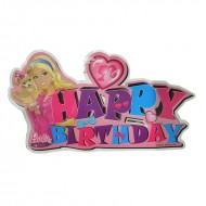 Themez Only Barbie Paper Happy Birthday Banner 1 Piece Pack