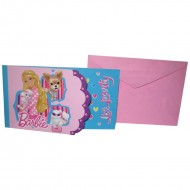 Themez Only Barbie Paper Invitation Card 8 Piece Pack