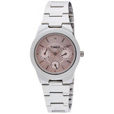 Timex E-Class Analog Pink Dial Girl's Watch - J100
