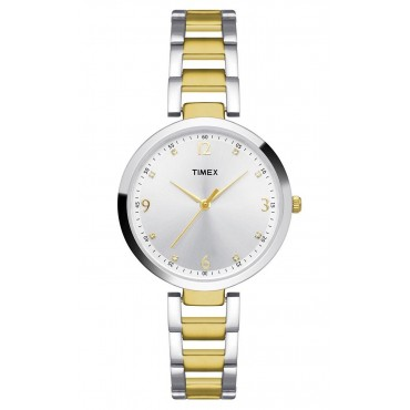 Timex Fashion Analog Silver Dial Girl's Watch - TW000X200