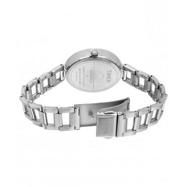 Timex E-Class Analog Silver Dial Girl's Watch - TW000X204