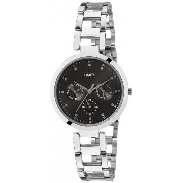 Timex E-Class Analog Black Dial Girl's Watch - TW000X205