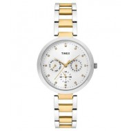 Timex E-Class Analog Silver Dial Girl's Watch - TW000X207