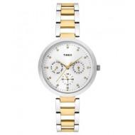 Timex E-Class Analog Silver Dial Girl's Watch - TW000X207