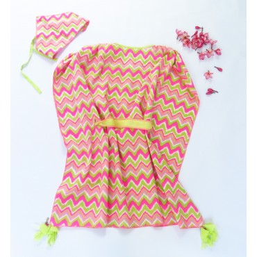 Two Feet Neon Aztek Havelock Kaftan