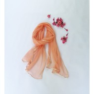 Two Feet Orange Chiffon Stole with Gota Patti
