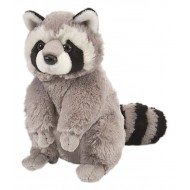 Wild Republic Cuddlekins Racoon Grey Black