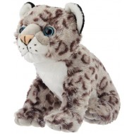 Wild Republic Cuddlekins Snow Leopard Baby Grey Black 12 Inch