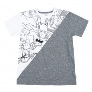 Batman White Grey T-Shirt BM1EBT193