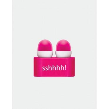 IF by Mufubu Sshhhh Ear Plugs Hot Pink
