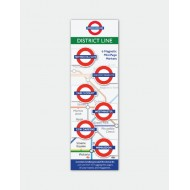 IF by Mufubu London Underground Mini Magnetic Book Mark District