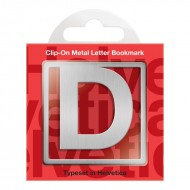 IF by Mufubu Helvetica ClipOn Letter Bookmark D