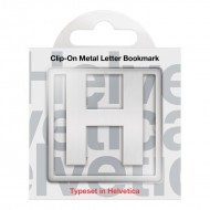 IF by Mufubu Helvetica ClipOn Letter Bookmark H
