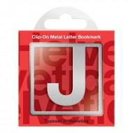 IF by Mufubu Helvetica ClipOn Letter Bookmark J