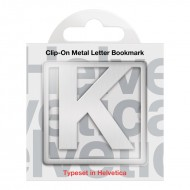 IF by Mufubu Helvetica ClipOn Letter Bookmark K