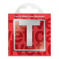 IF by Mufubu Helvetica ClipOn Letter Bookmark T