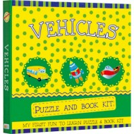Art Factory My First Fun To Learn Puzzle And Book Kitvehicles