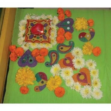 Imagimake SANDEMBELLISH Colourful Wooden Rangoli