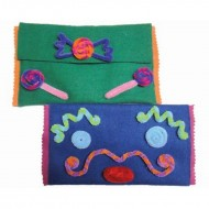 Imagimake Felt Craft Pouch Design a Pouch with Pipe Cleaners