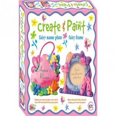 Ekta Create & paint Fairy name Plate + Fairy Frame