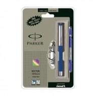 Parker Vector Mettalix CT Roller Ball Pen (Blue) +Free Swiss Knife