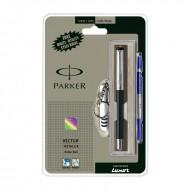Parker Vector Mettalix CT Roller Ball Pen (Black) +Free Swiss Knife