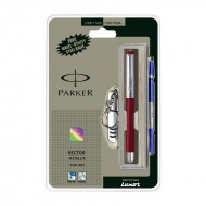Parker Vector Mettalix CT Roller Ball Pen (Red) +Free Swiss Knife