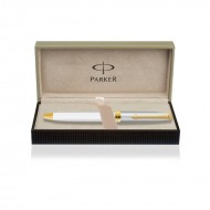 Parker Fusion Deluxe White Gold Trim Ball Pen