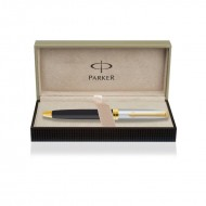 Parker Fusion Deluxe Black Gold Trim Ball Pen