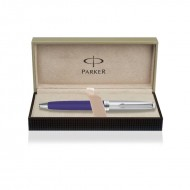 Parker Fusion Deluxe Purple Chrome Trim Ball Pen