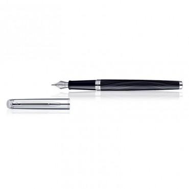 Waterman Hemisphere Dlx Silk Blk CT Fountain Pen Fine Nib