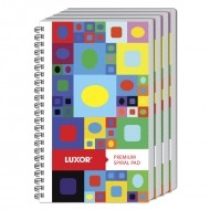 Luxor Side Spiral 33 Single Ruled Notebook