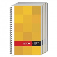 Luxor Side Sprial 33 Unruled Notebook