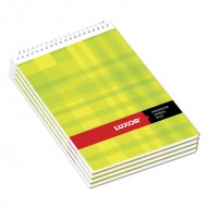 Luxor Top Bound Sprial 44 Unruled Notebook