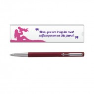 Parker Vector Std CT Roller Ball Pen Red with Mom Quote 3