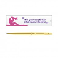 Parker Classic Gold GT Ball Pen with Mom Quote 3