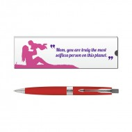 Parker Aster Red CT Ball Pen with Mom Quote 1