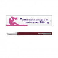 Parker Vector Std CT Roller Ball Pen Red with Mom Quote 5