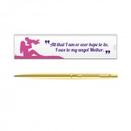 Parker Classic Gold GT Ball Pen with Mom Quote 5