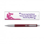 Parker Vector Std CT Ball PenRed with Mom Quote 6
