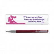 Parker Vector Std CT Roller Ball Pen Red with Mom Quote 6