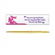 Parker Classic Gold GT Ball Pen with Mom Quote 6