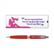 Parker Aster Red CT Ball Pen with Mom Quote 2