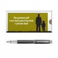 Parker IM Premium Deep Gun Metal 5th Technology Pen with Dad Quote 2