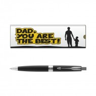 Parker Aster Lacque Black CT BP with Dad Quote 1
