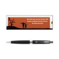 Parker Aster Lacque Black CT BP with Dad Quote 5