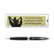 Parker Aster Lacque Black CT BP with Dad Quote 6