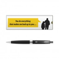 Parker Aster Lacque Black CT BP with Dad Quote 7